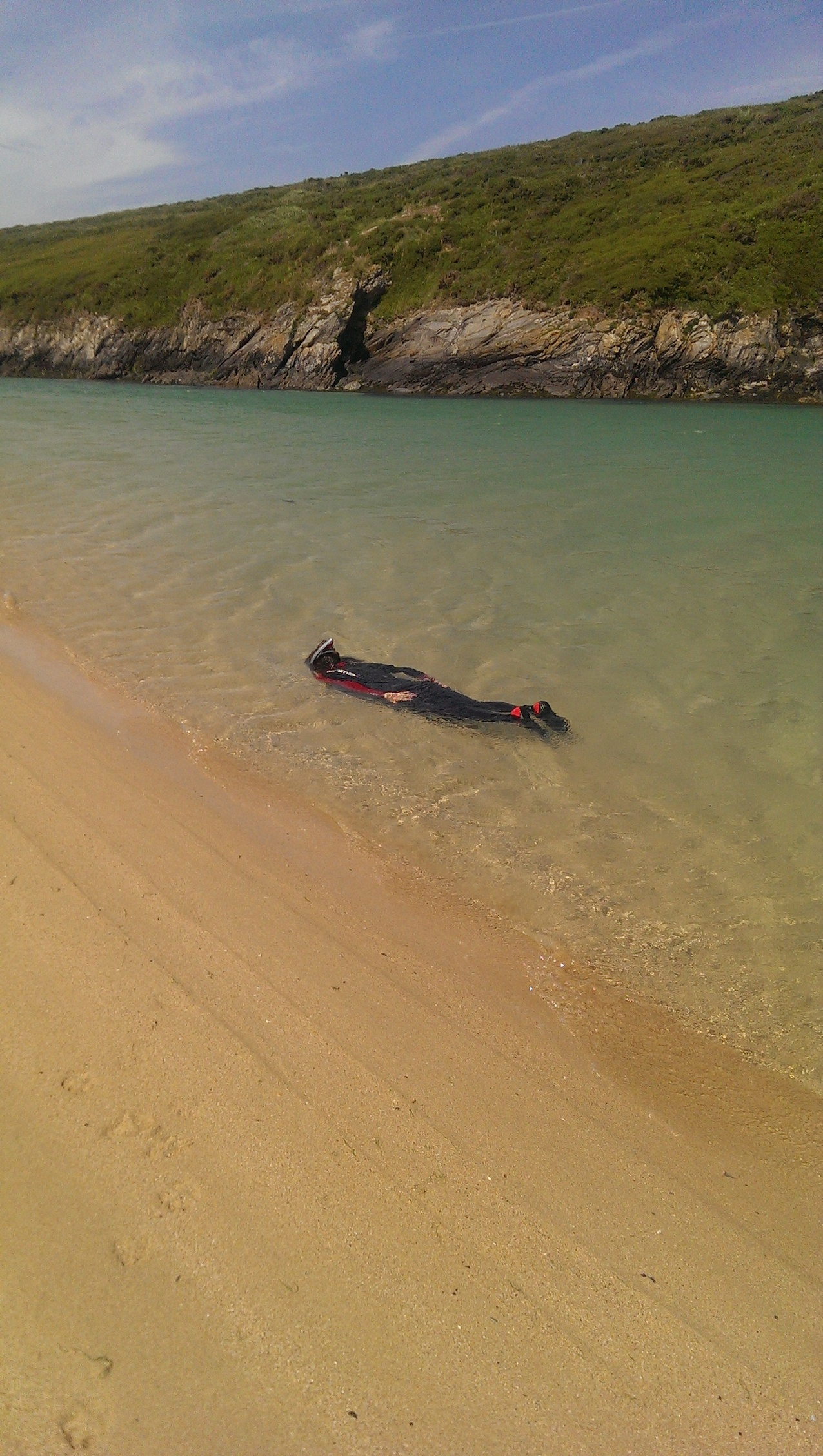 The Cornwall waters looking more like Grecian seas!