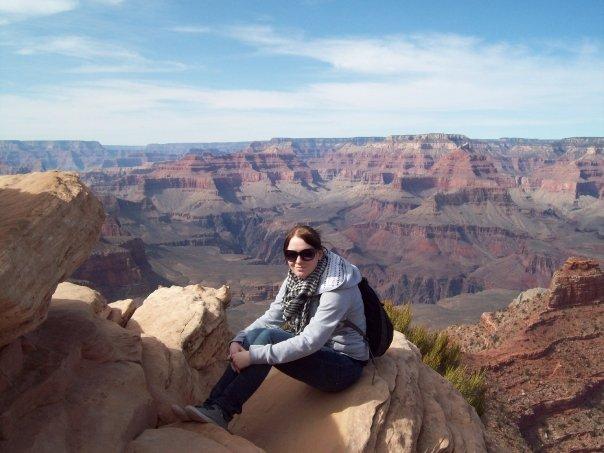 At the Grand Canyon, loving life!
