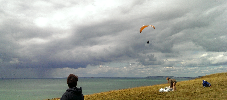 Hannah flying through the air