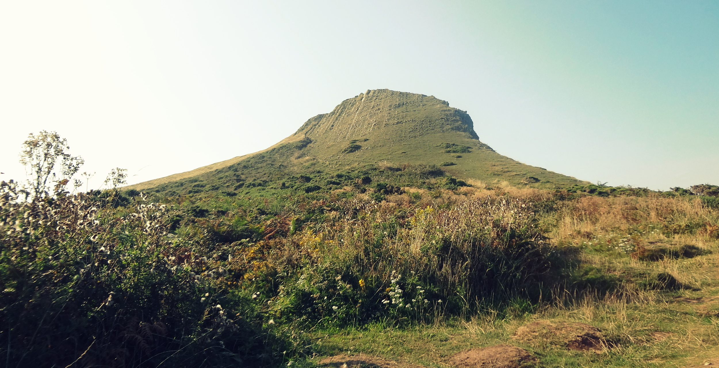 The foot of the hill on the island, which I then proceeded to run up :D