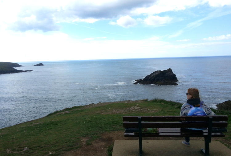 A moment to take in the rugged yet exotic-looking Cornish coast, read about our trip  here .