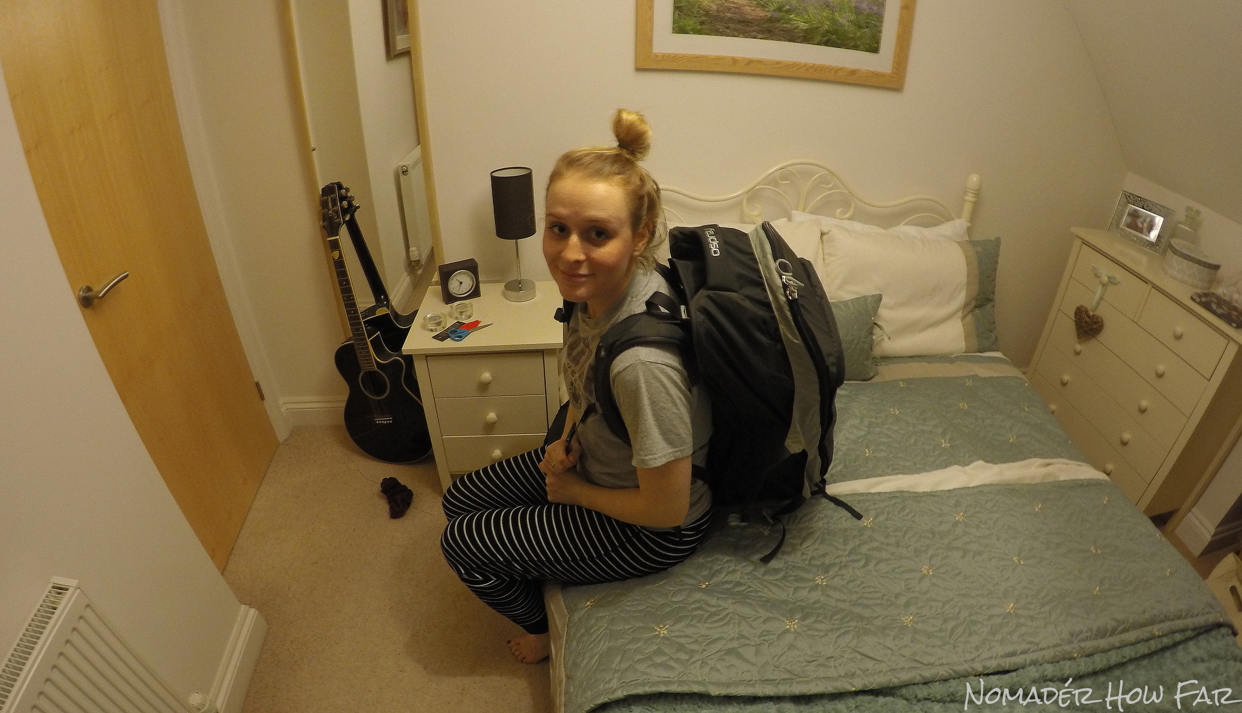 STAGE 5: Packed and ready to hit the road. If in doubt just do what I do and wear pyjamas.