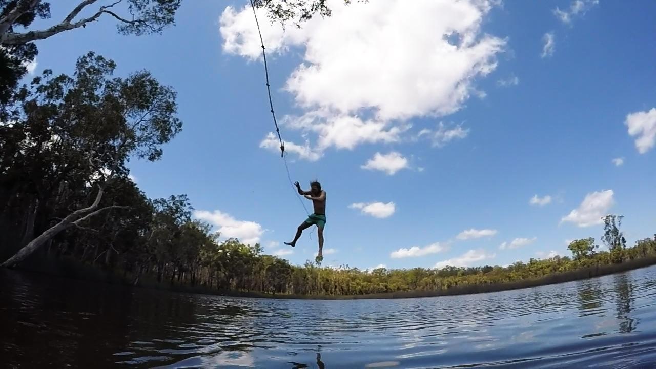 lagoon rope swing