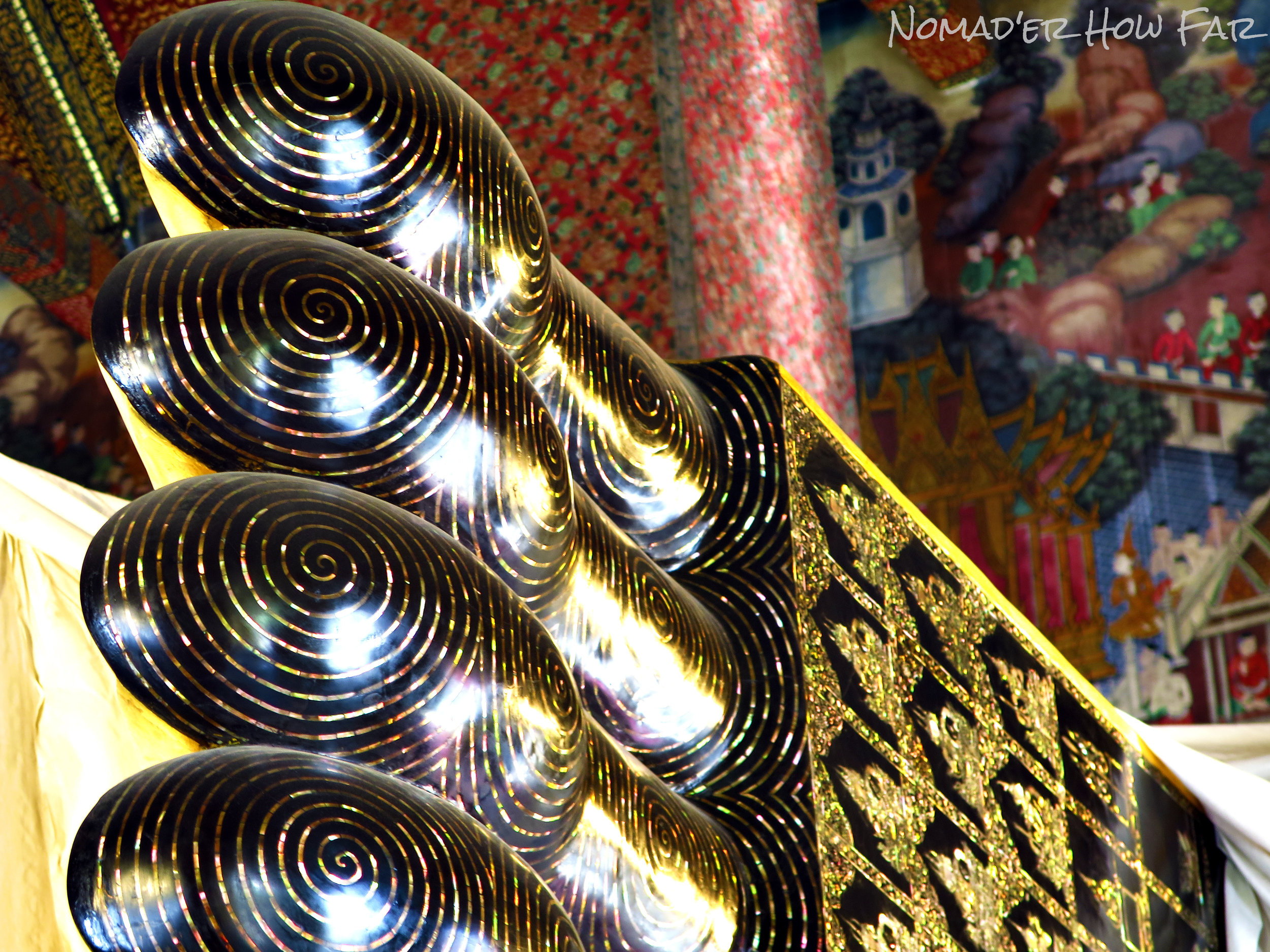 reclining Buddha foot