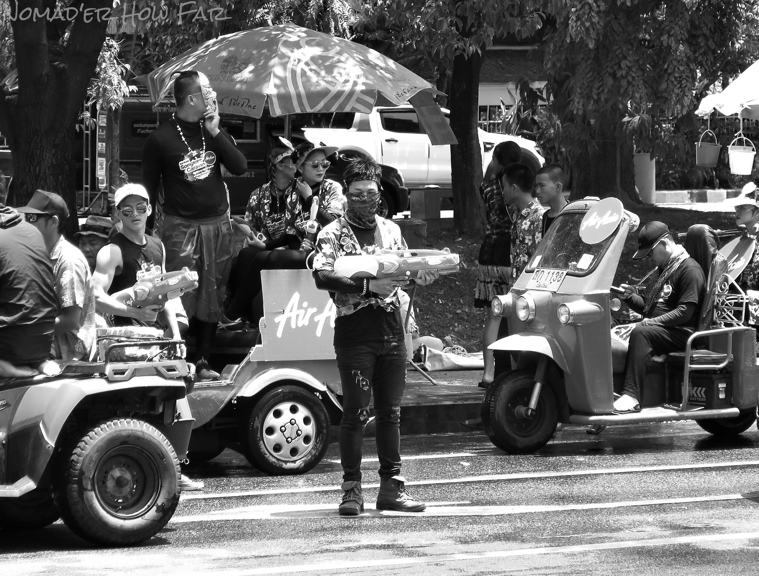 water gun protest