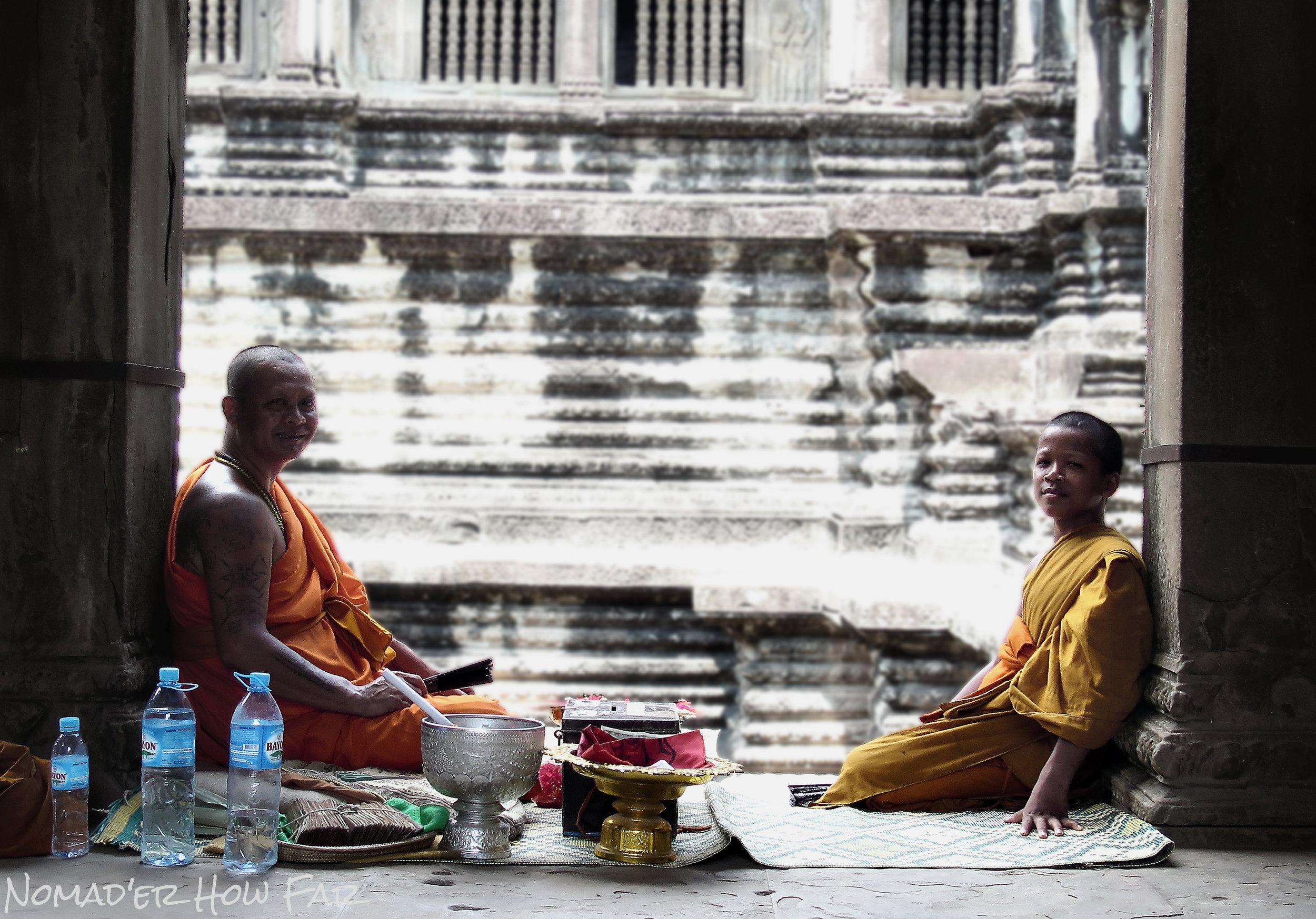 monks sitting