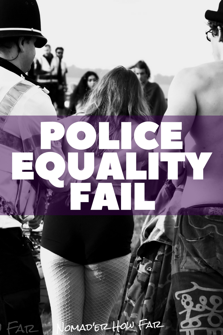 It seems odd that in today's society and even more so at an event such as the summer solstice that these females were handcuffed and carted off behind closed doors for taking off their tops, while countless men who did the exact same thing were free to do so..