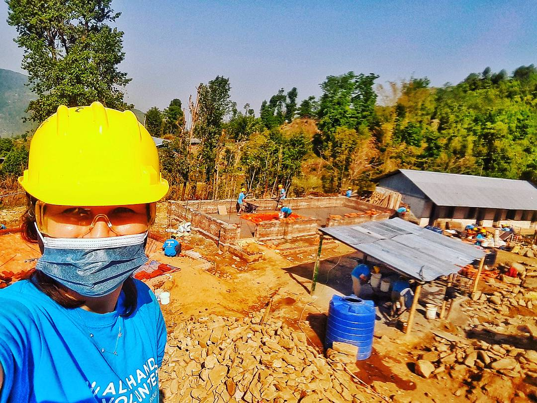 Working day at All Hands Volunteers, Thulo Packar, Nepal
