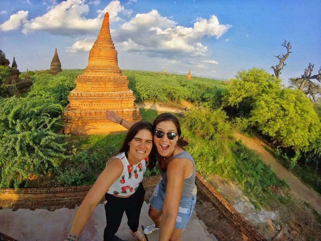 Exploring hundreds of temples, Bagan, Myanmar