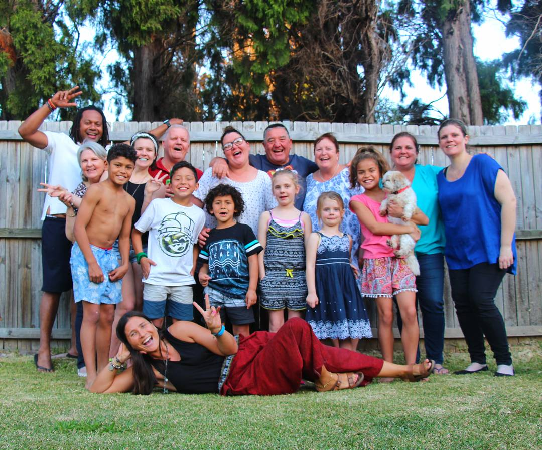 Celebrating Father's Day with one of my host families, Sydney, Australia