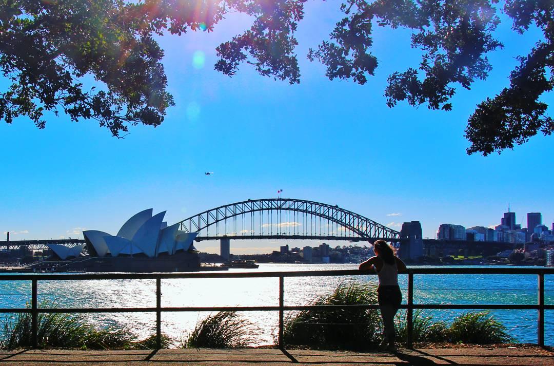 Overlooking the Opera House, Sydney, Australia