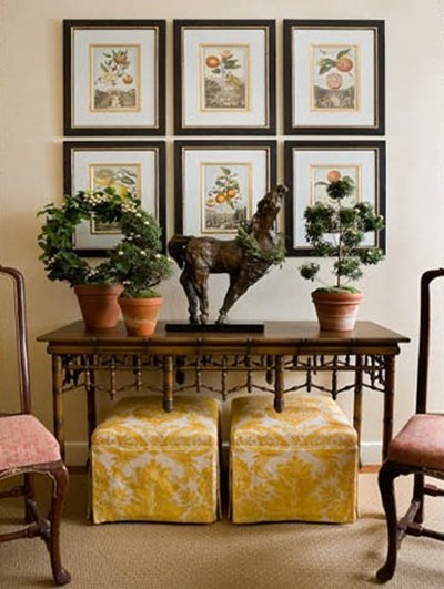 foyer-hall-console-table-yellow-fabric-benches-faux-bamboo-decor-interior-design-home-eclectic-decor-ideas-milton-via-chinoiserie-chic1.jpg