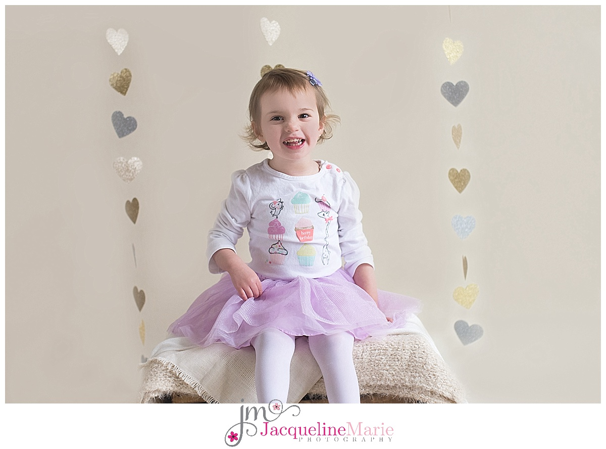 Columbus child photographer, toddler girl session, Valentine mini session