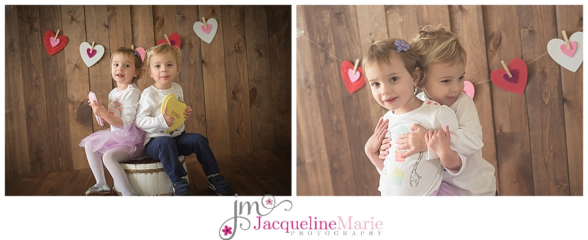 Columbus twin photographer, sibling pose, brother and sister, Valentine mini session