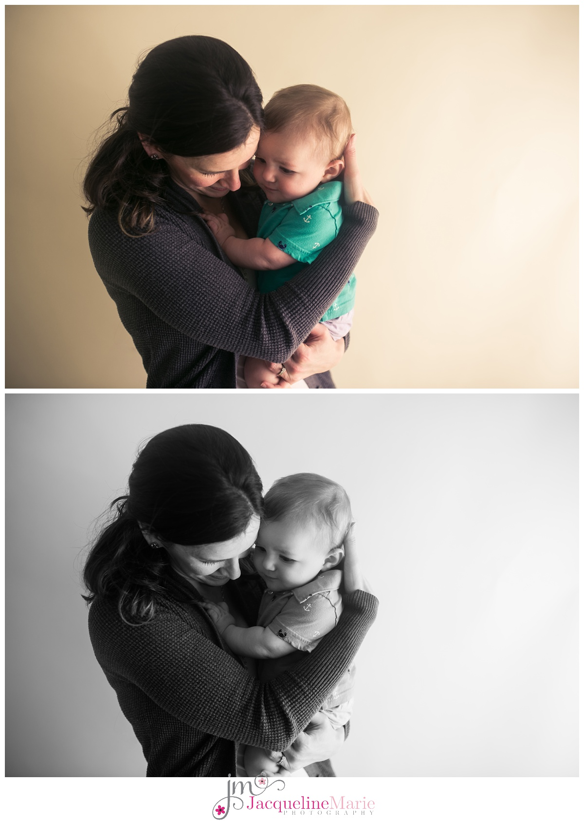 Mother and son portrait | mother and baby pose | baby boy and mother hugging | Columbus Ohio family photographer | Columbus Ohio baby photography | Jacqueline Marie Photography LLC