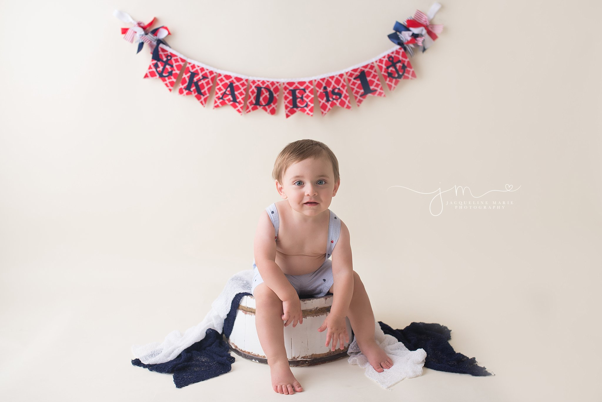 first birthday pictures, Columbus cake smash photographer, nautical cake smash, nautical first birthday, children photographer Columbus Ohio