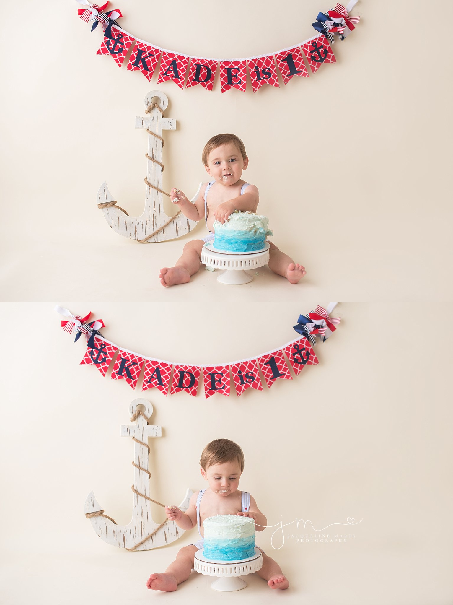 cake smash photographer, cake smash birthday session, nautical cake smash, nautical first birthday, first birthday photographer Columbus Ohio, baby photography Columbus