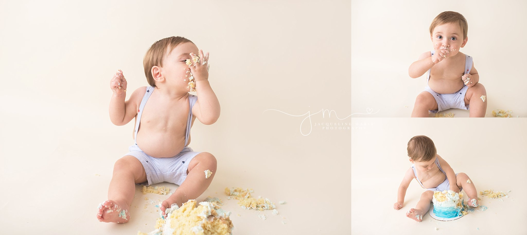 Columbus photographer, cake smash, nautical first birthday