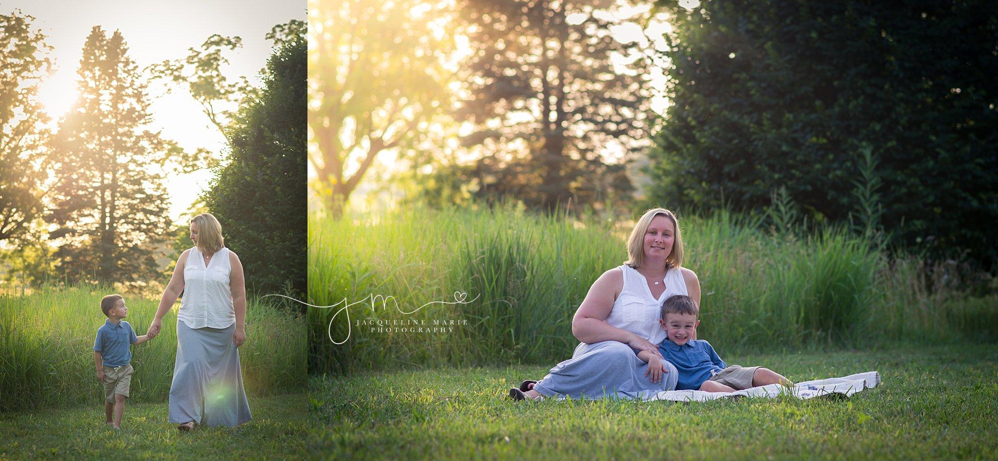 Columbus Ohio photographer, family photography Columbus, mother and son photography, sunset session, mother and son pose, Jacqueline Marie Photography LLC
