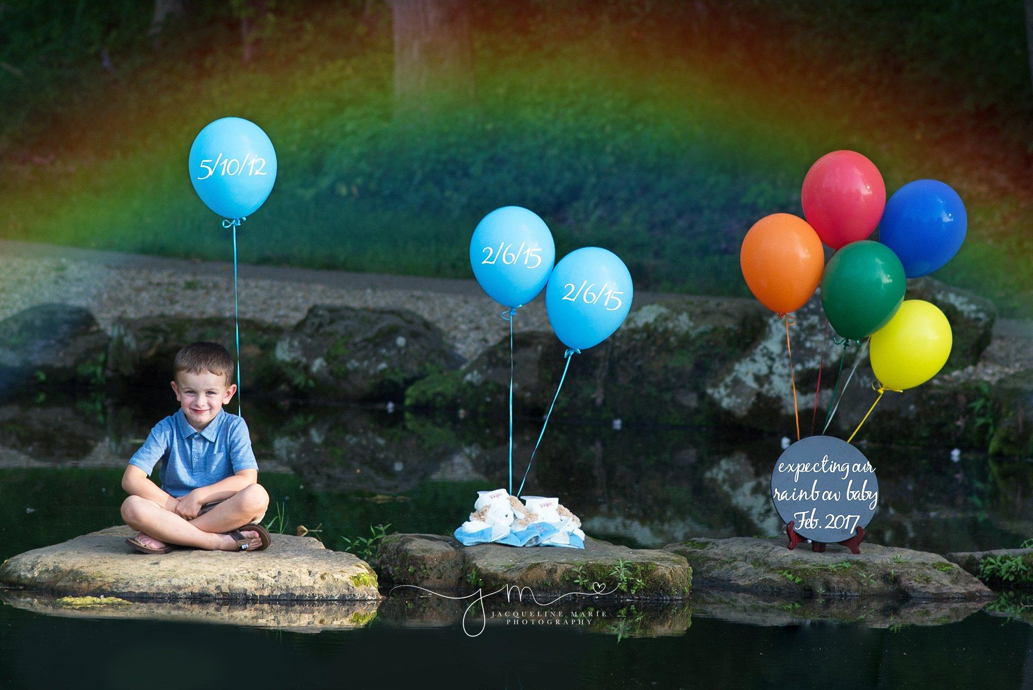 rainbow baby, rainbow baby announcement, baby photographer Columbus, pregnancy announcement, big brother announcement
