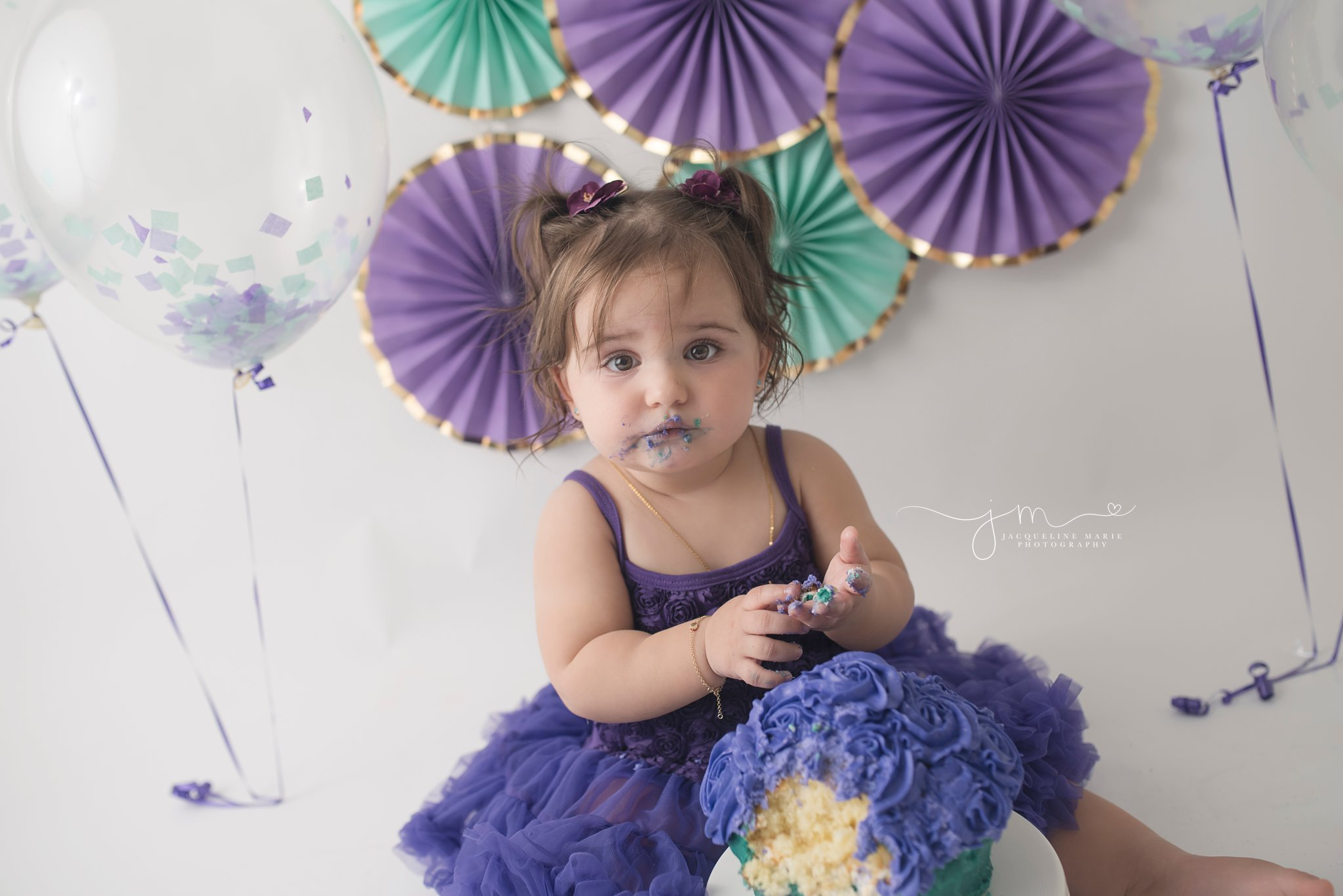 columbus ohio first birthday photographer offers cake smash pictures for portrait sessions