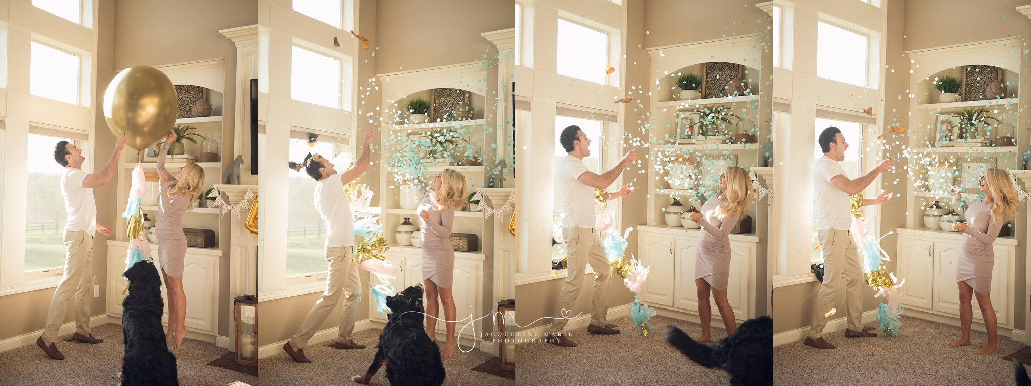 gender reveal balloon | gender reveal photography columbus ohio