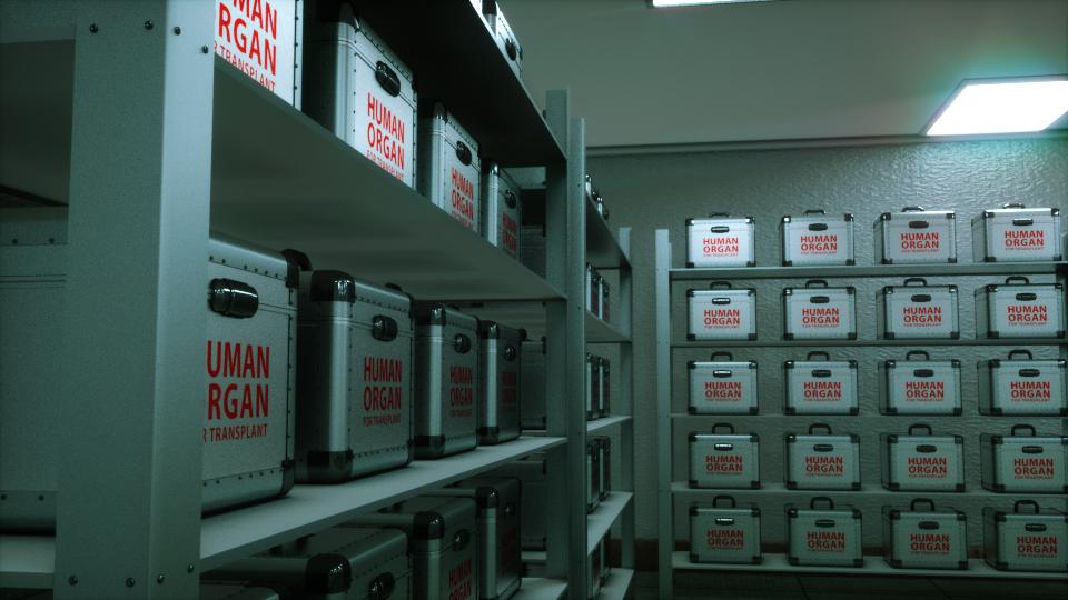 Donor Organs Concept Render, Octane
