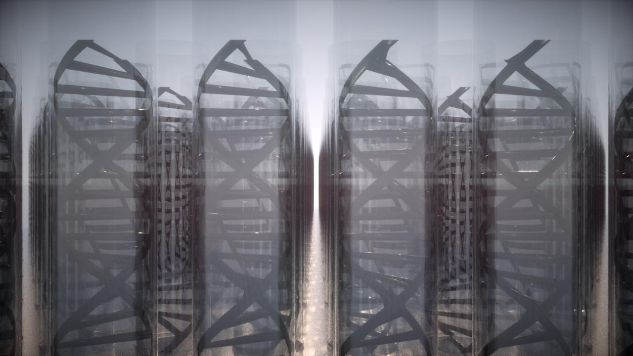 DNA Concept Render, Octane