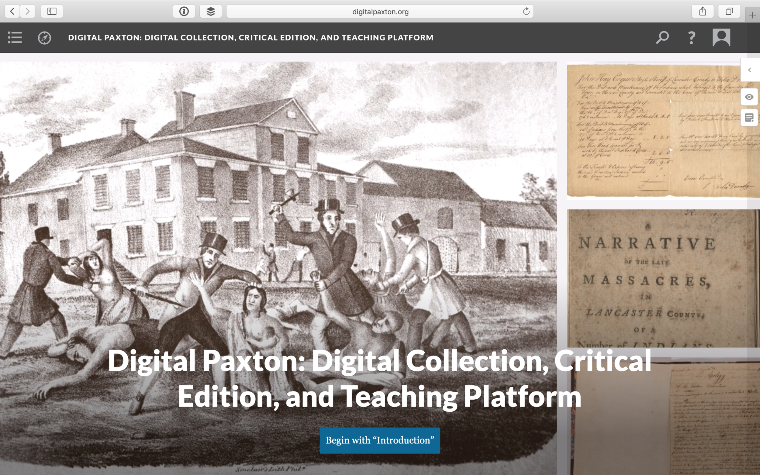 Digital Paxton: Digital Collection, Critical Edition, and Teaching Platform