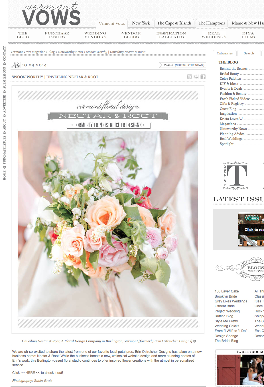 press | nectar and root | florist floral flowers design | vermont