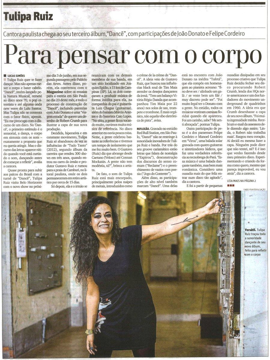 O Tempo I Belo Horizonte I Maio 2015