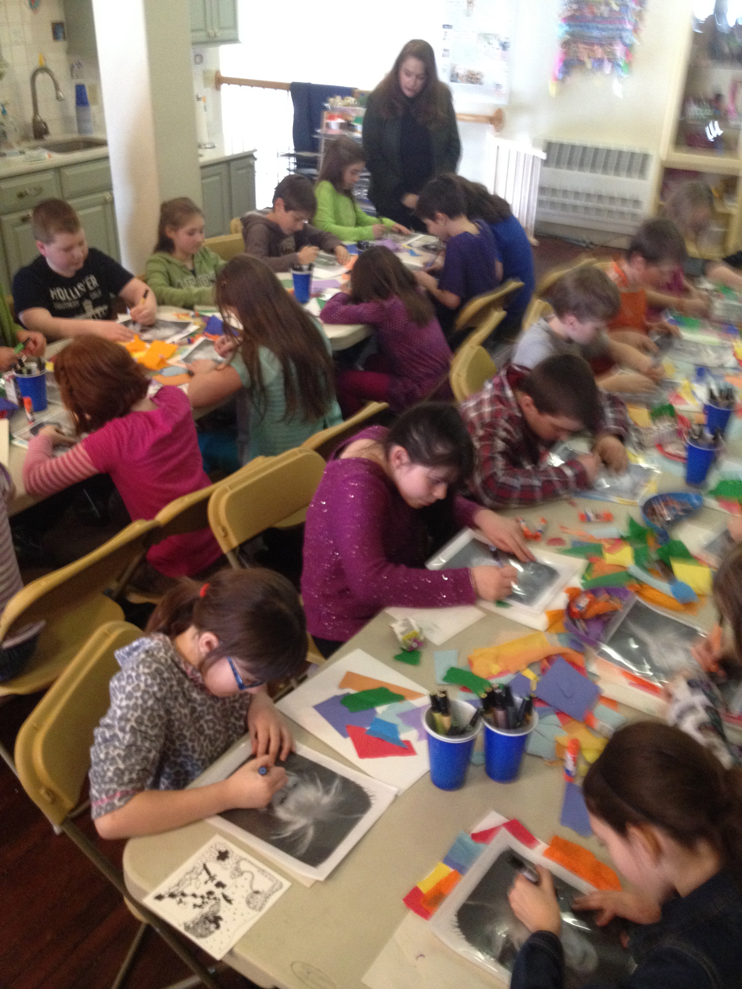 I instructed over 100 students in the Aroostook County area's Gifted and Talented programs in a project inspired by Andy Warhol, portraiture, and layering images and materials.