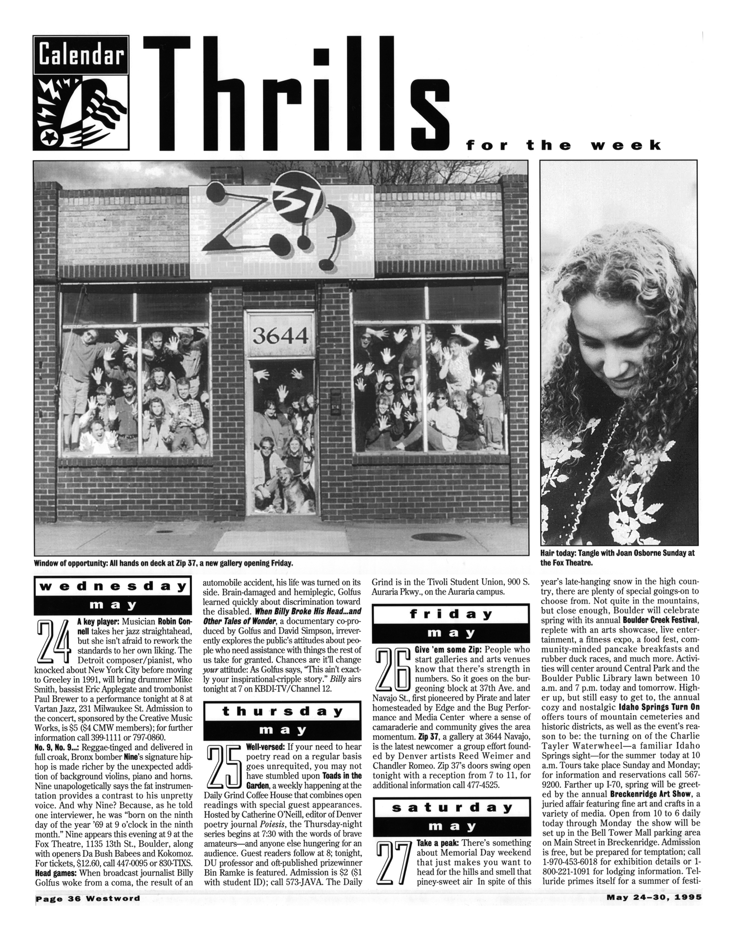 Zip 37 Opening feature Westword May 24, 1995 kennybe.com