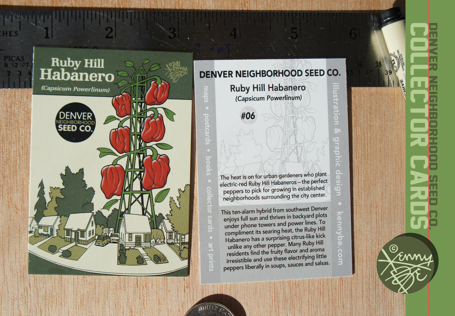 Free Denver Neighborhood Seed Co. Collector Cards at the Stompin' Ground Games!