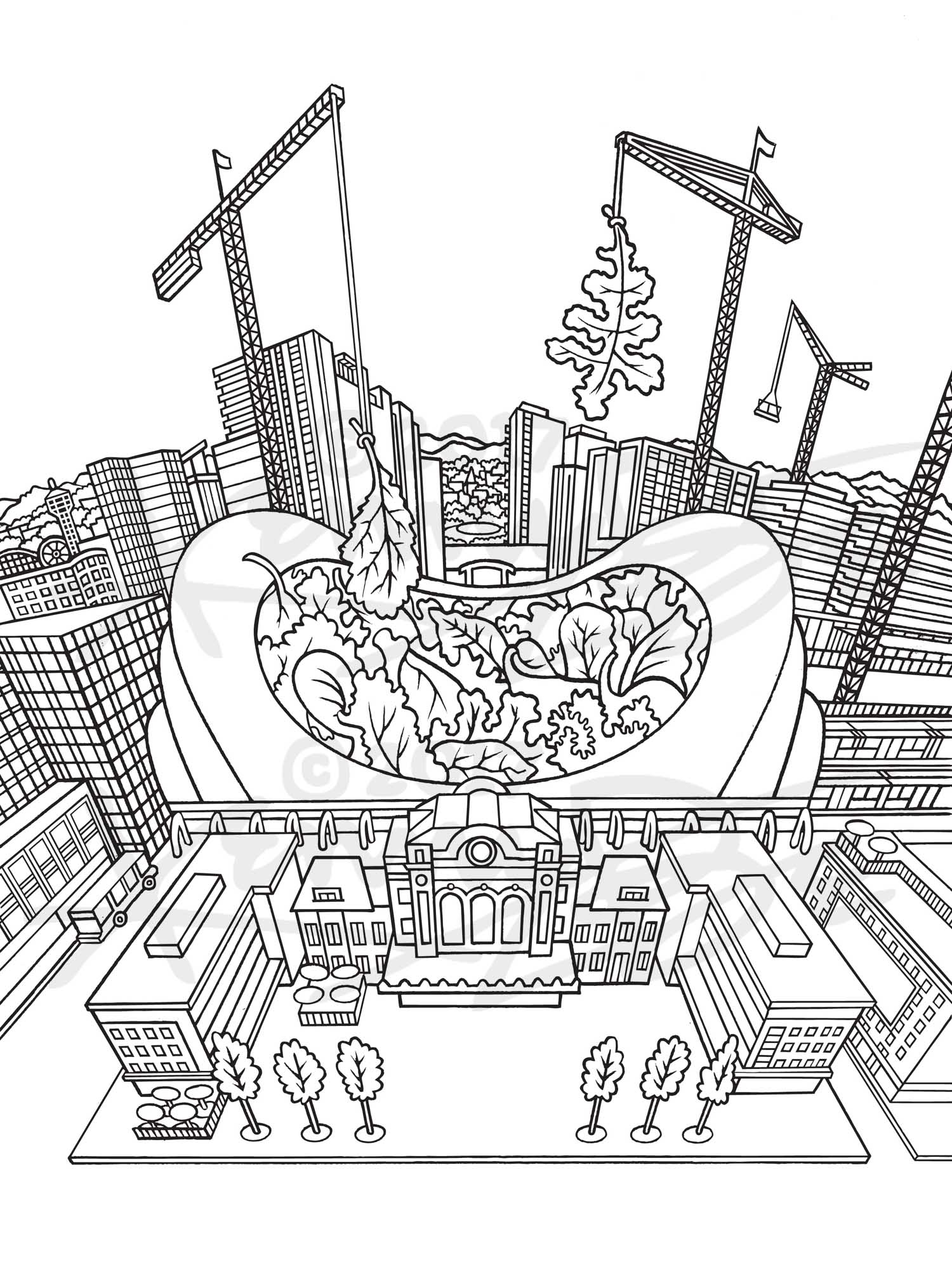 3. Union Station Mesclun Denver Neighborhood Seed Company Kenny Be Art & Design kennybe.com BW Line Art.jpg