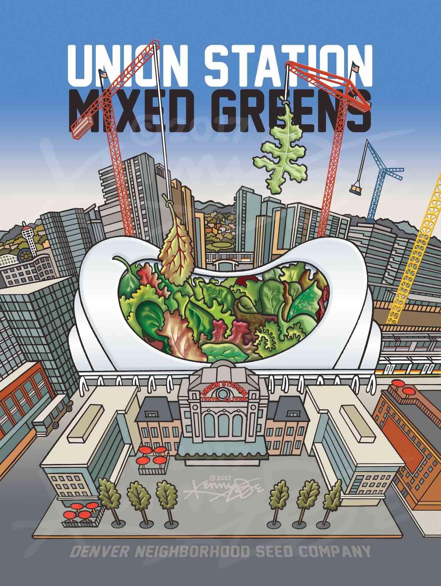 5. Union Station Mixed Greens Denver Neighborhood Seed Company Kenny Be Art & Design kennybe.com Color Art.jpg