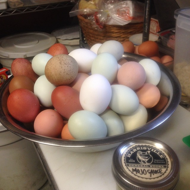 The beginnings of local egg salad.