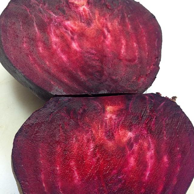 Just cut open this big beet.