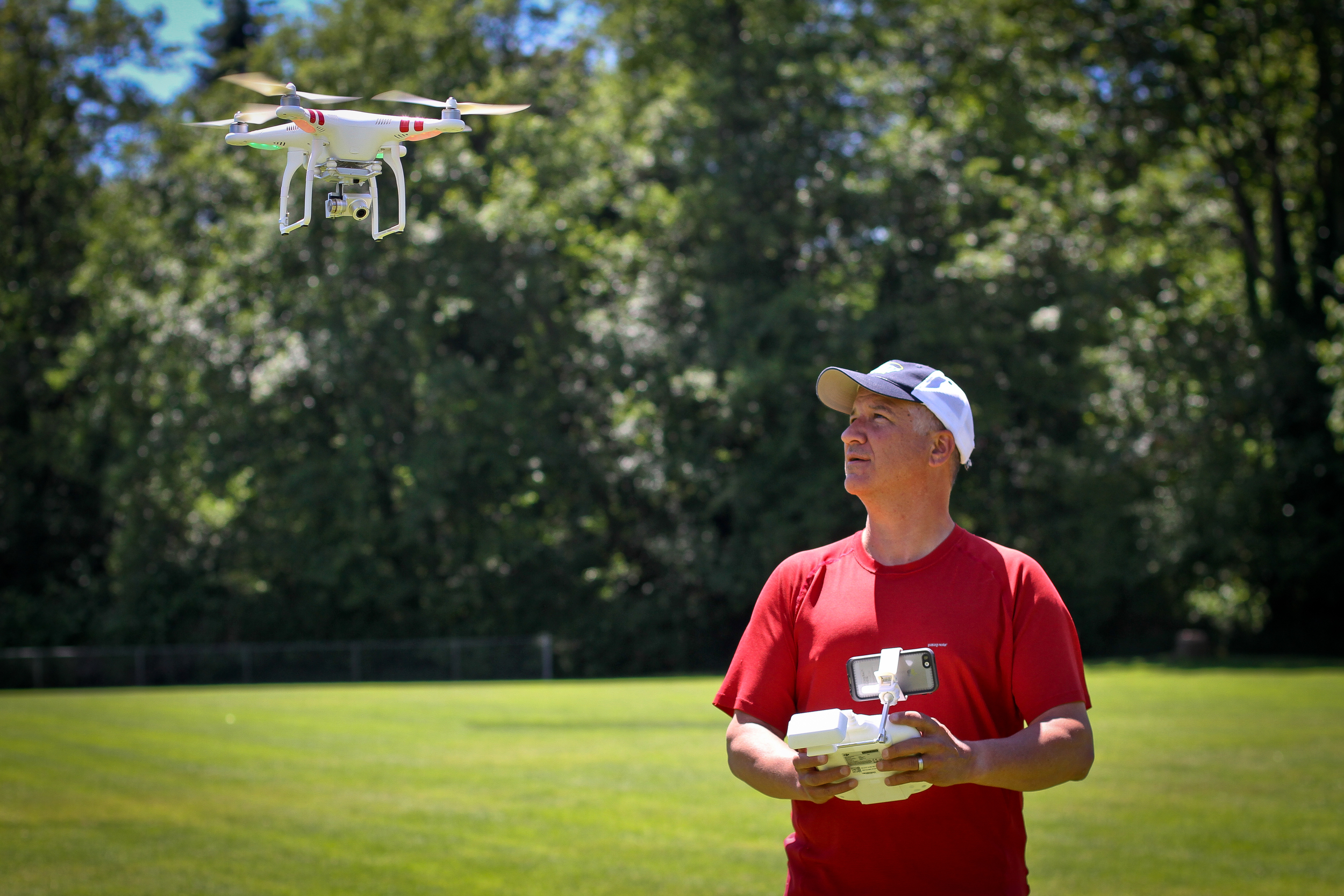Old fart on the Drone controls
