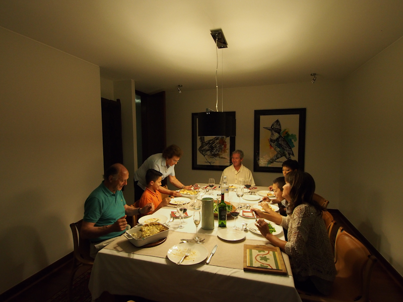 Christmas dinner in Santiago with the Cortes family.