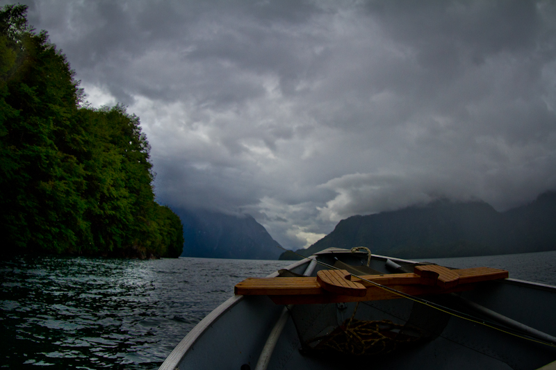 Stormy days on Lago Yelcho.