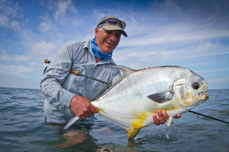 My first ever landed Permit, on the first day of our trip, and the first of two grand slams I had for the week!