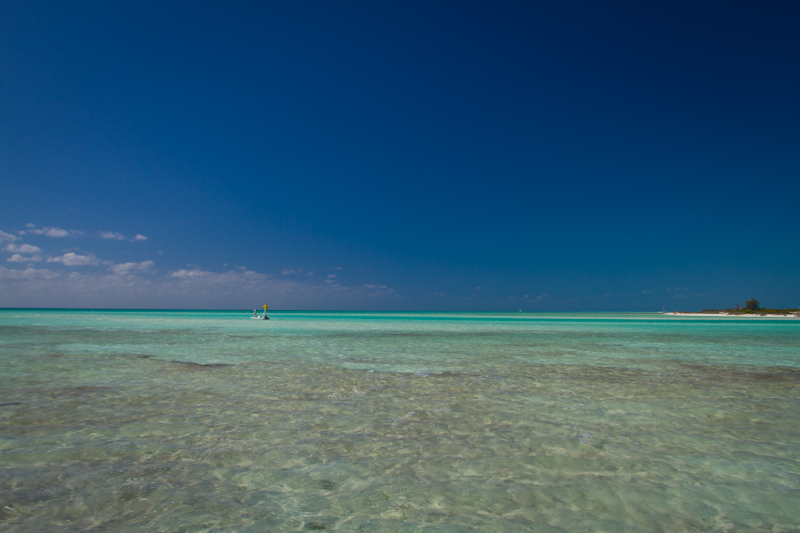 Holy crap.....now that is a Bonefish flat! Note the beautiful white beach in the background.