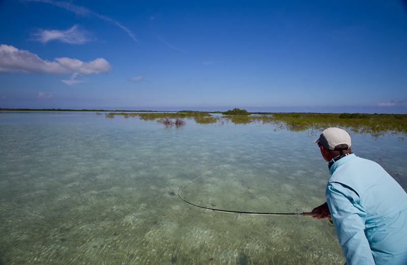 Hooked up to a Bonefish, Gardens of the King, Cuba