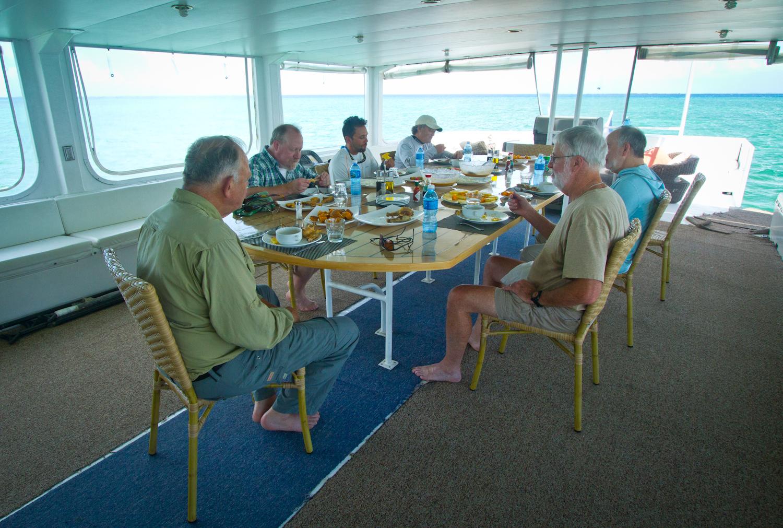 Dining, Georgiana Yacht, Zapata, Cuba