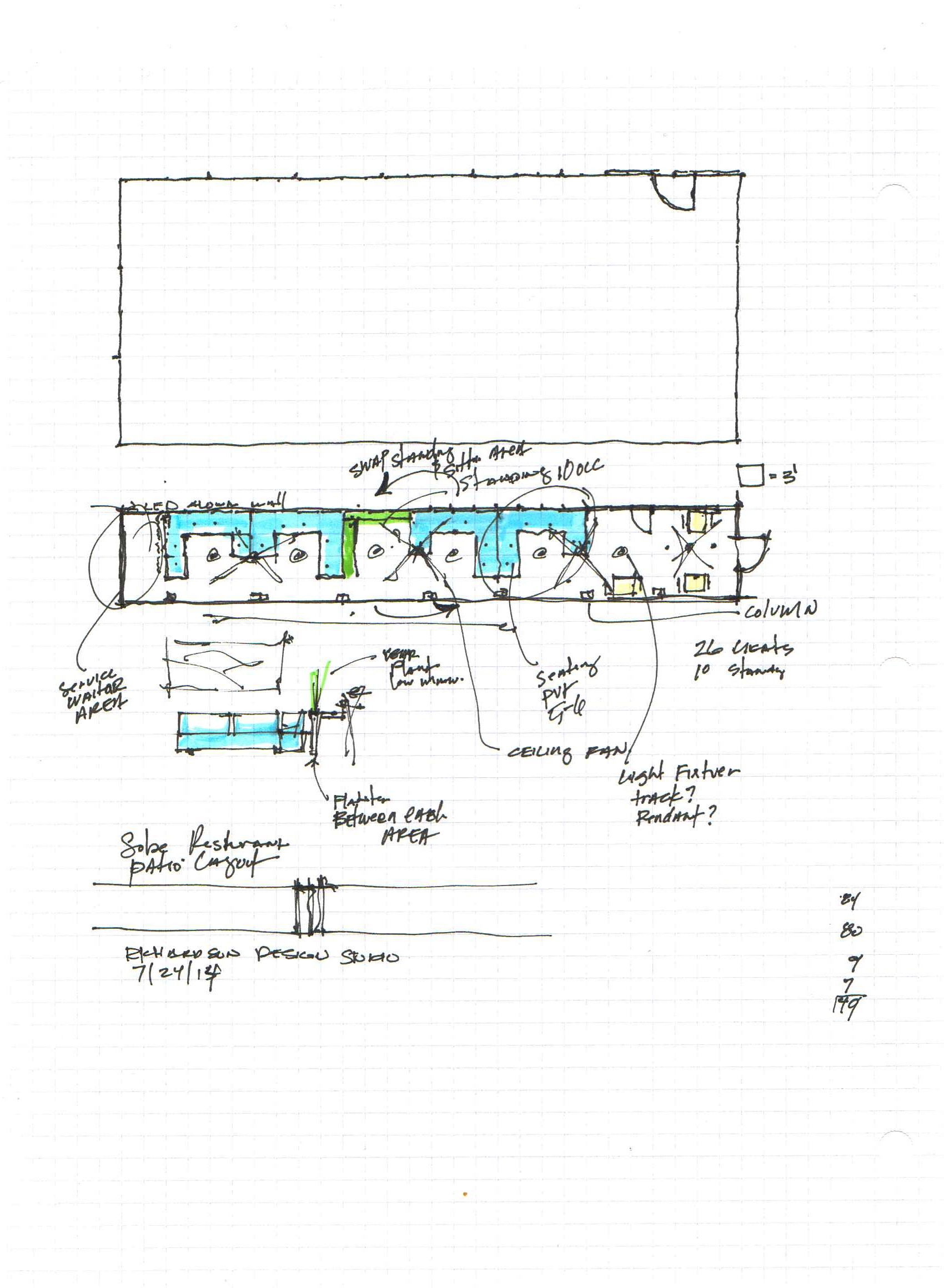 Sketch by Kendrick Richardson, AIA, LEED AP, NCARB  The Richardson Design Studio  Website:  therichstudio.com