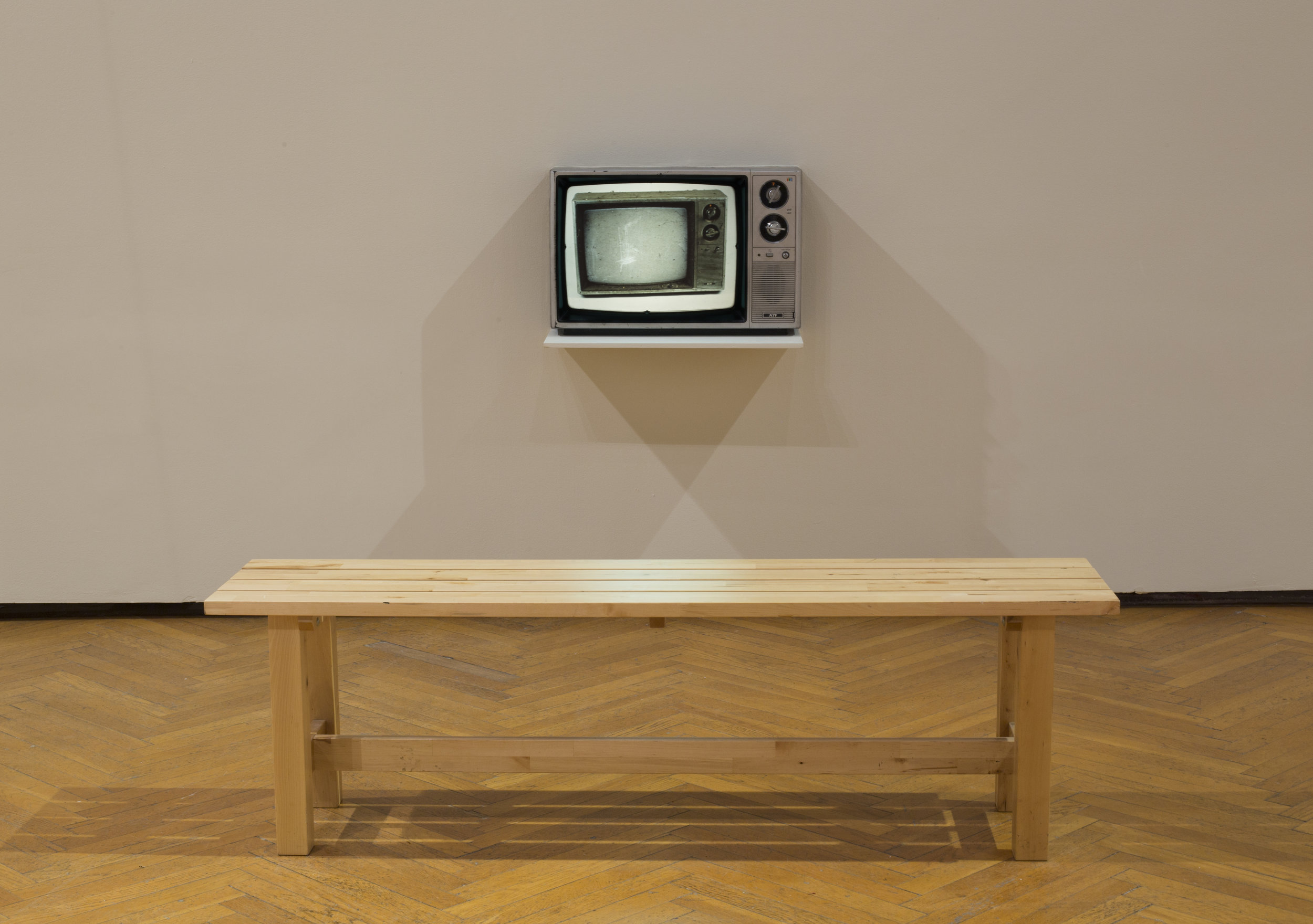 As Seen On TV, found TV slide projection installation, 2018