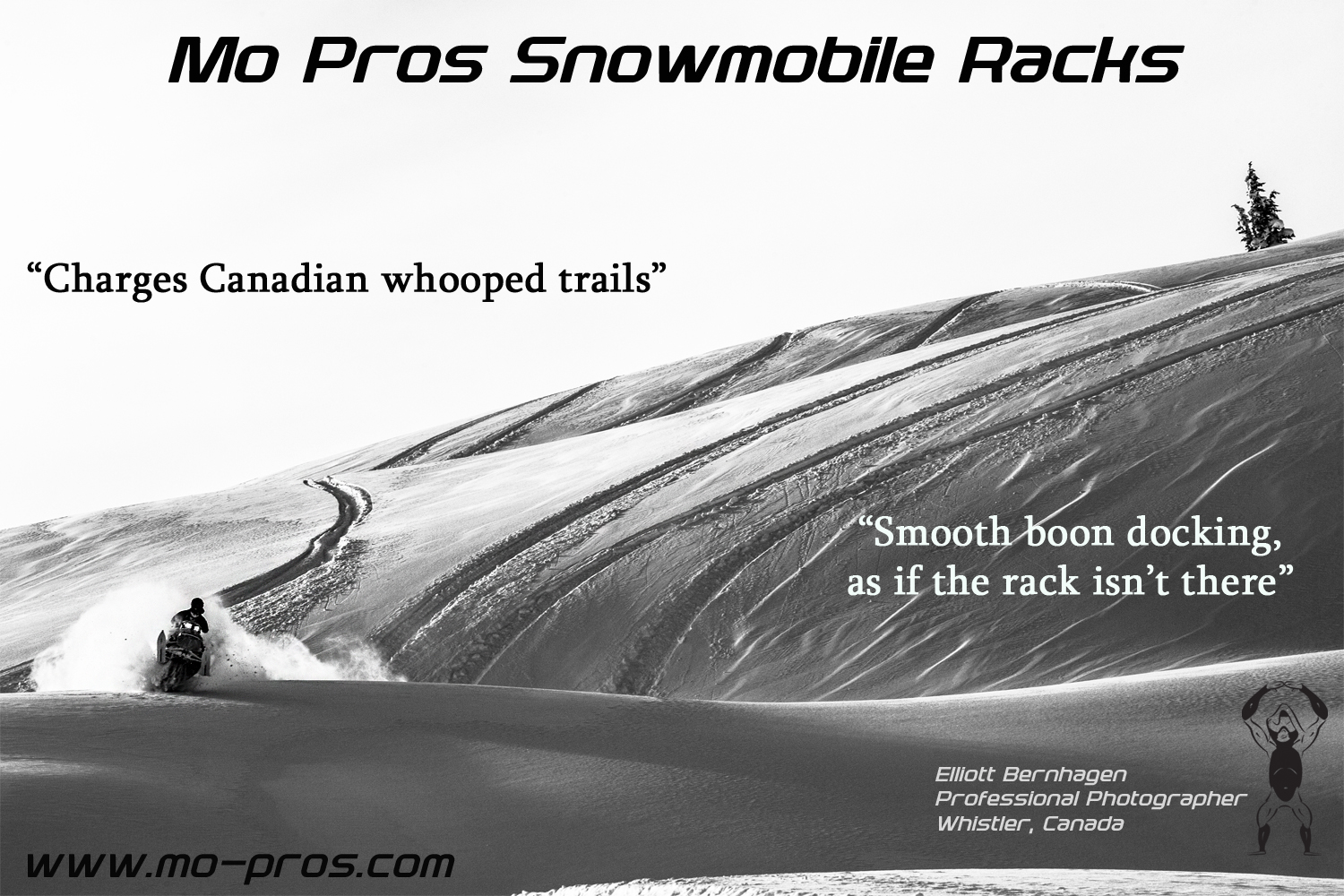 The Mo Pros Snowmobile Rack is competitive because it changes into a snowmobile ski rack and snowmobile snowboard rack. Polaris snowmobile integration is simple, but Ski-Doo is also well accommodated as we live in a very backcountry united atmosphere, including cheetah factory racing.