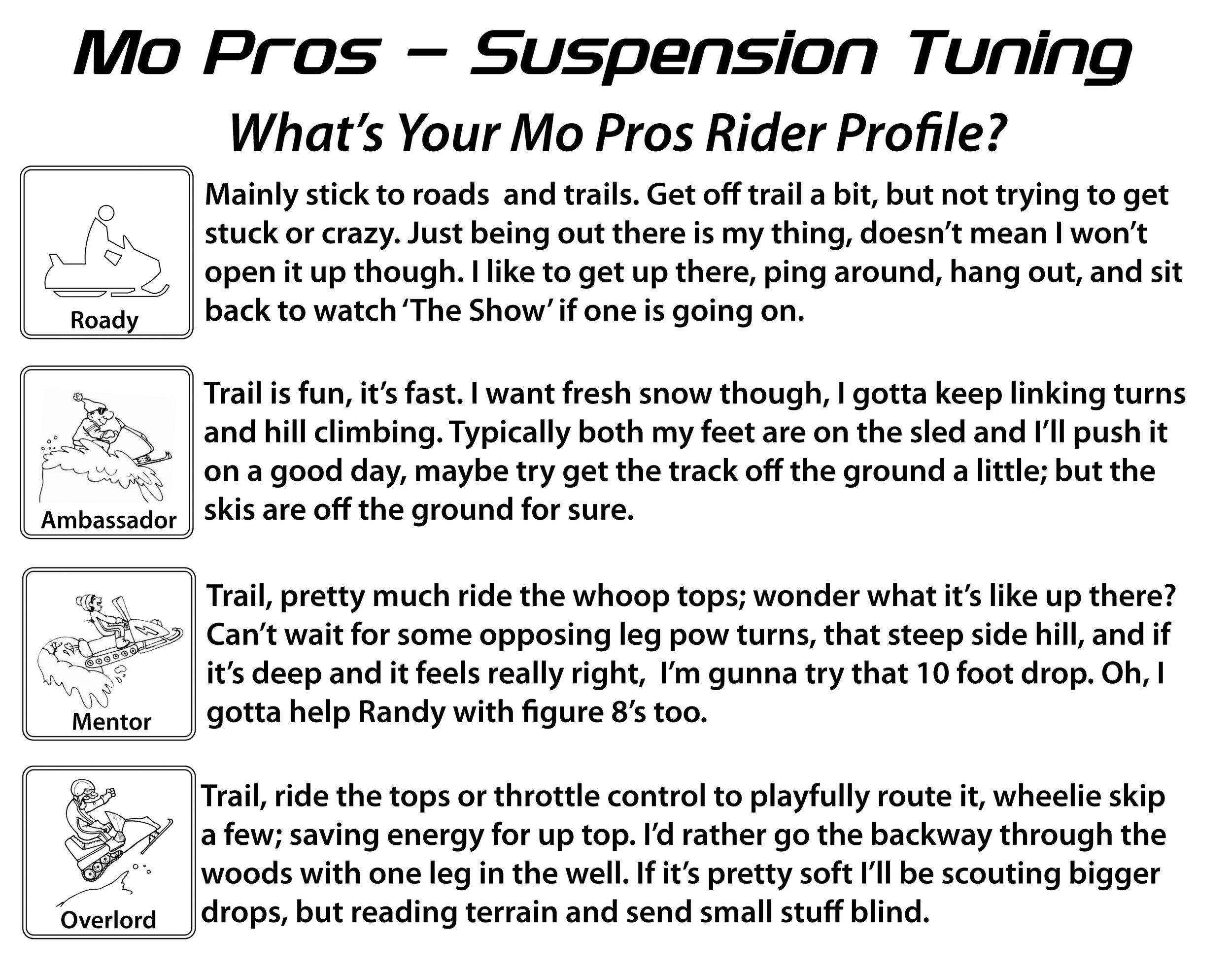 Copy of Suspension Tuning Rider Profiles