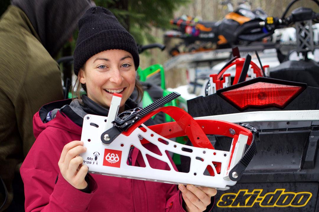 snowmobile snowboard rack